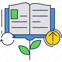 book, education, knowledge, school, tree icon