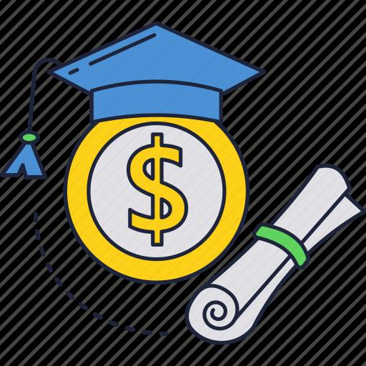 admission, course, education, fee, money, price, university icon