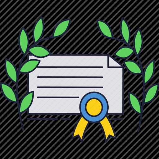 certificate, diploma, education, school, university icon