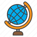 country, globe, learning, school, world icon