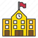 building, college, learning, school, university icon