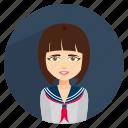 chool, girl, lady, nerd, school icon