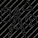 math, compass, shape, studying geometry icon