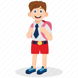 boy uniform, male student, schoolboy, student, student illustration icon