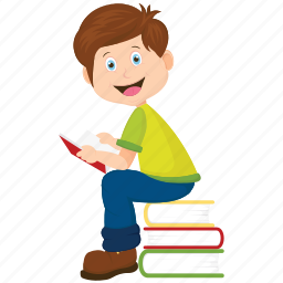 book, bookworm, school boy, student, student reading icon