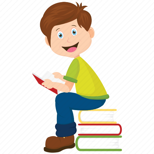 book, bookworm, school boy, student, student reading icon