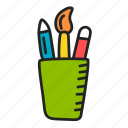 art, design, stationery, tools icon