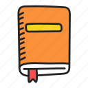 book, education, library icon