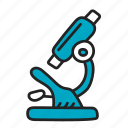 biology, lab, microscope, science icon