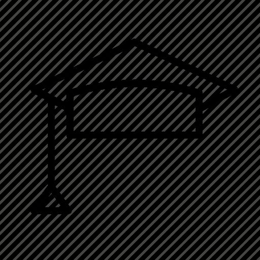 cap, college, education, graduation, hat, mortarboard, university icon