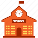 building, education building, school, school buil, school building icon