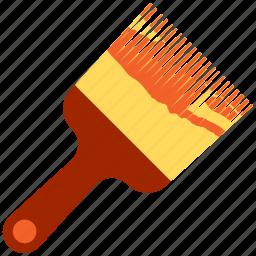 brush, color, construction, paint, paintbrush icon