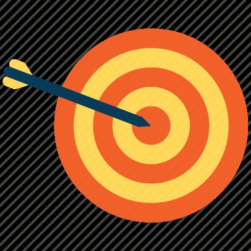 arrow, bullseye, dart, target icon