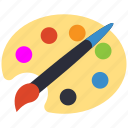 art, brush, color, paint icon