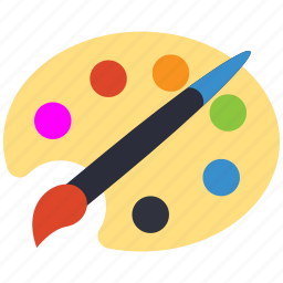 art, brush, color, paint icon
