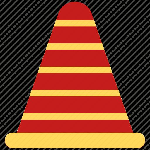 cone, construction, road, road construction, under construction icon