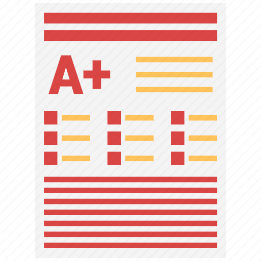 exam, grade, grades, test icon