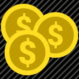 cent, coin, dollar, money icon