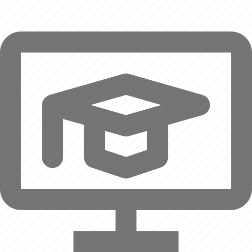 cap, education, graduation, hat, online education icon