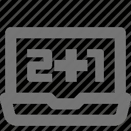 device, laptop, math, mathematics icon