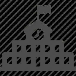 building, college, education, high school, school icon