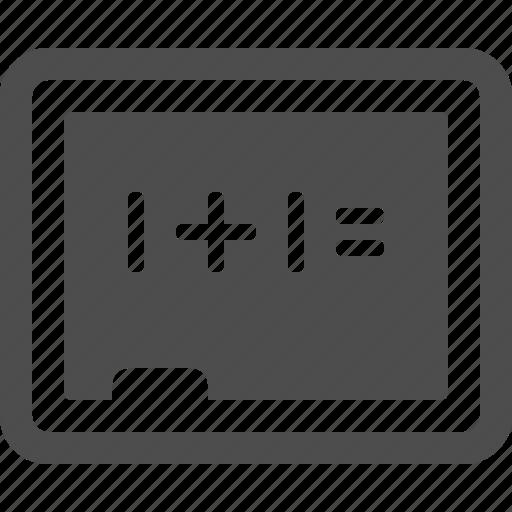blackboard, chalkboard, classroom, education, math, school icon