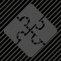 game, piece, puzzle, square icon