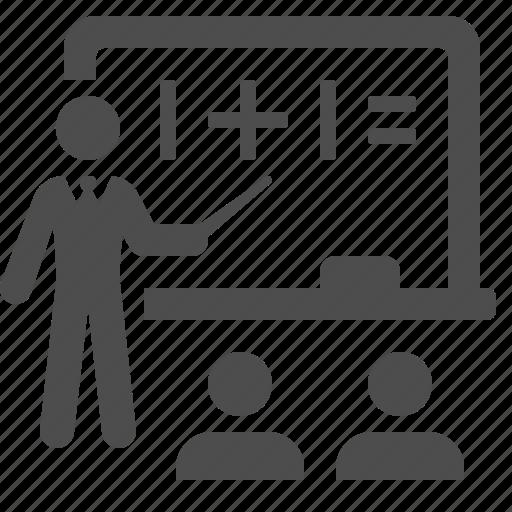 blackboard, classroom, education, school, students, teacher, teaching icon