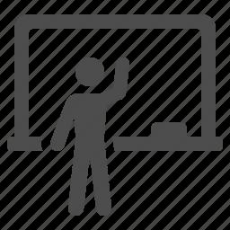 blackboard, classroom, education, school, student, teacher icon
