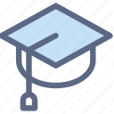 cap, education, graduate, master, student, study icon