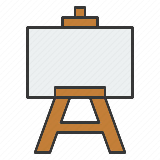 art, art canvas, canvas, education, learning, school, stand icon