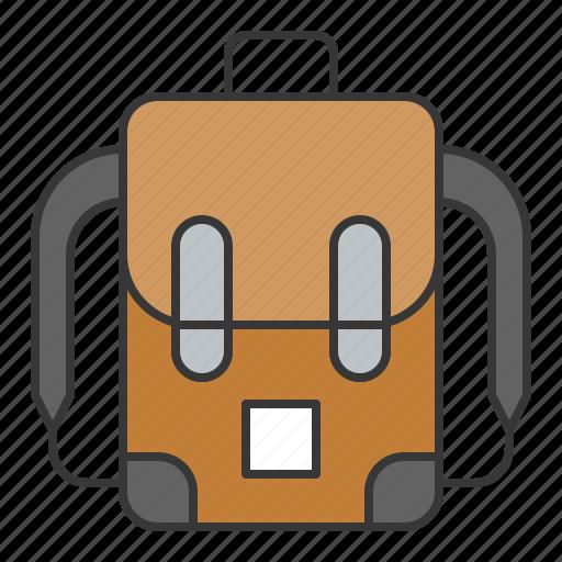 backpack, bag, education, school, study icon