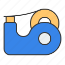 education, office material, school, school material, tape, tape dispenser, tool icon