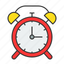 alarm, alarm clock, clock, education, ringing, school, timer icon