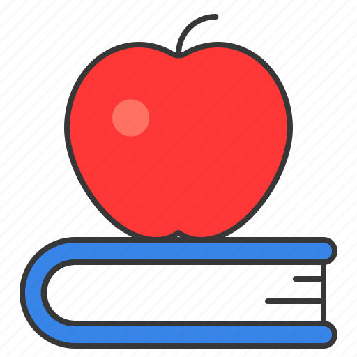 apple, book, education, learning, school, wisdom icon