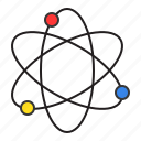 atom, education, learning, physic, school, science, study icon