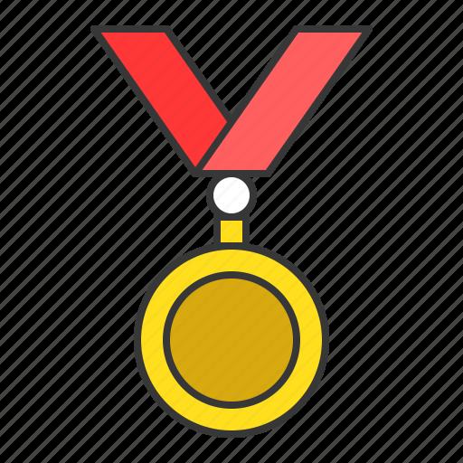 award, education, gold coin, medal, reward, school, trophy icon