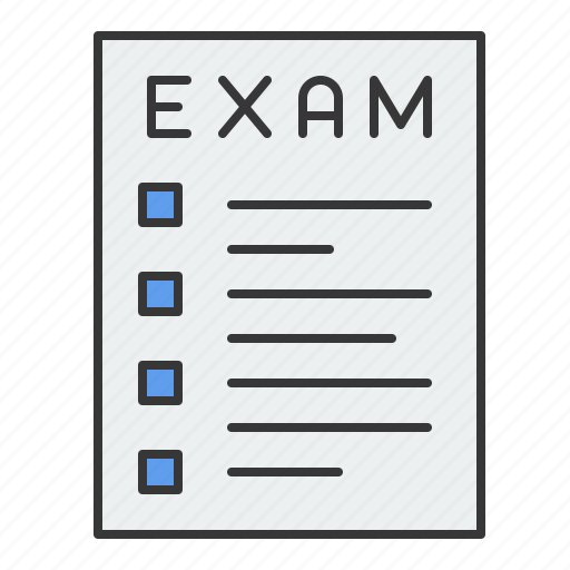education, exam, learning, paper, school, study, test icon