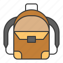 backpack, bag, baggage, education, luggage, school icon