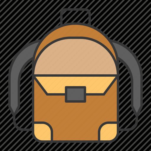 backpack, bag, baggage, education, luggage, school icon