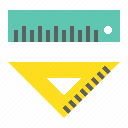ruler, school, school material, set square, tool, triangle ruler icon