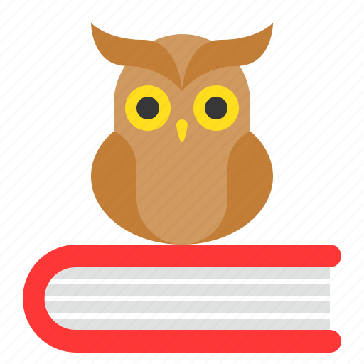 Book, education, knowledge, learning, owl, school, wisdom icon - Download on Iconfinder
