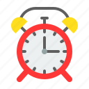 alarm, alarm clock, clock, ringing, school, time, timer icon