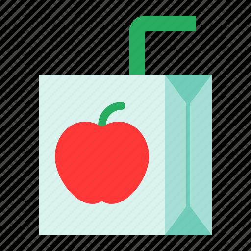 beverage, drinks, juice, juice box, school icon