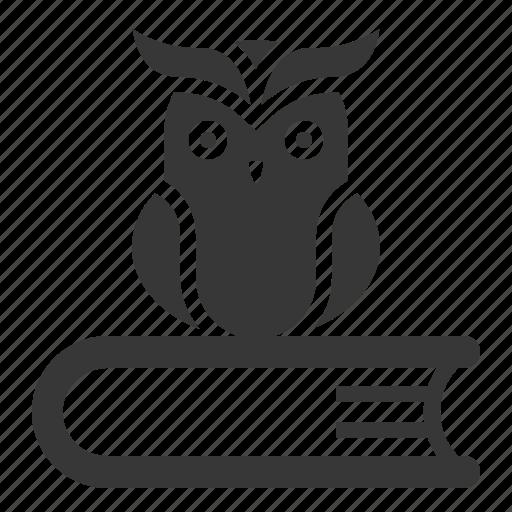 book, education, knowledge, owl, school, wisdom icon