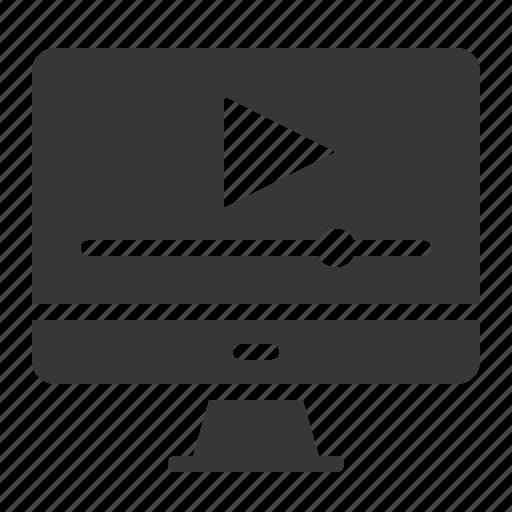 clip, computer, media, multimedia, school, screen, video icon