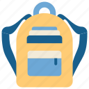 bag, education, school, schoolbag, science, student, study icon