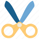 cut, education, school, scissor, snip, student, study icon