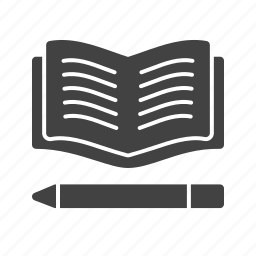 book, bookmark, education, paper, pencil, stationery, study icon