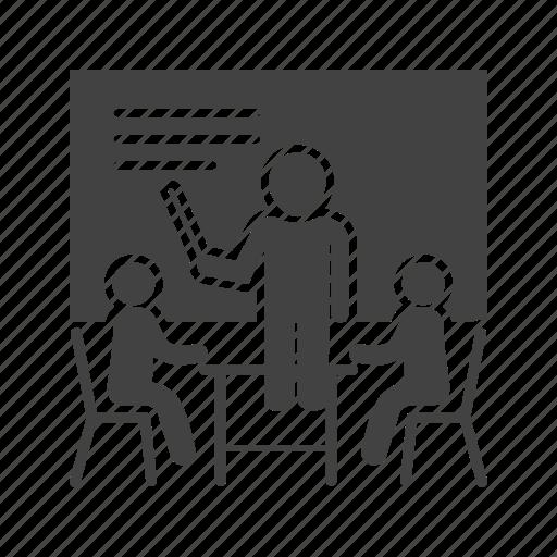 male, man, presentation, presenter, training icon